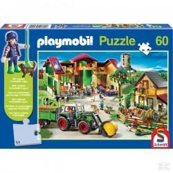 Puzzle à la ferme PLAYMOBIL + 1 figurine offerte