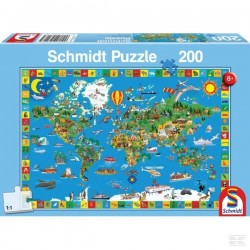 Puzzle Carte du Monde SCHMIDT