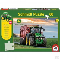 Puzzle Tracteur John Deere 8370R avec Remorque SCHMIDT