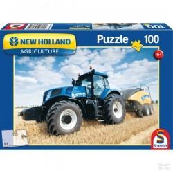 Puzzle Tracteur New Holland 1290 + Presse SCHMIDT