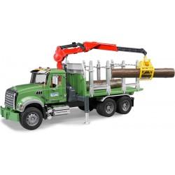 Camion forestier SCANIA avec grue et grumes