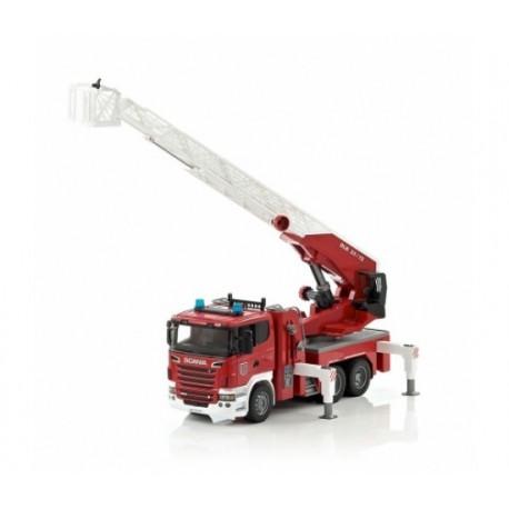 Camion de pompier avec echelle SCANIA
