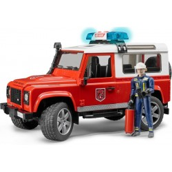 Voiture de pompier Land Rover Defender + figurine