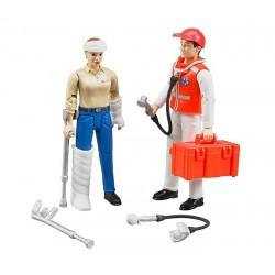 Ambulancier avec accessoires