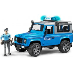 Voiture de Police Land Rover Defender + figurine