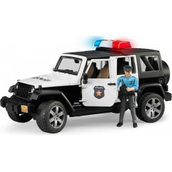 Voiture de Police Jeep Wrangler Rubicon + figurine