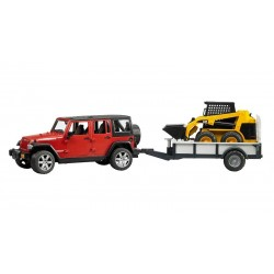 Mini Chargeur Delta Caterpilar + Jeep + remorque