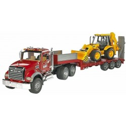 Tractopelle 4CX JCB + camion porte engins MACK